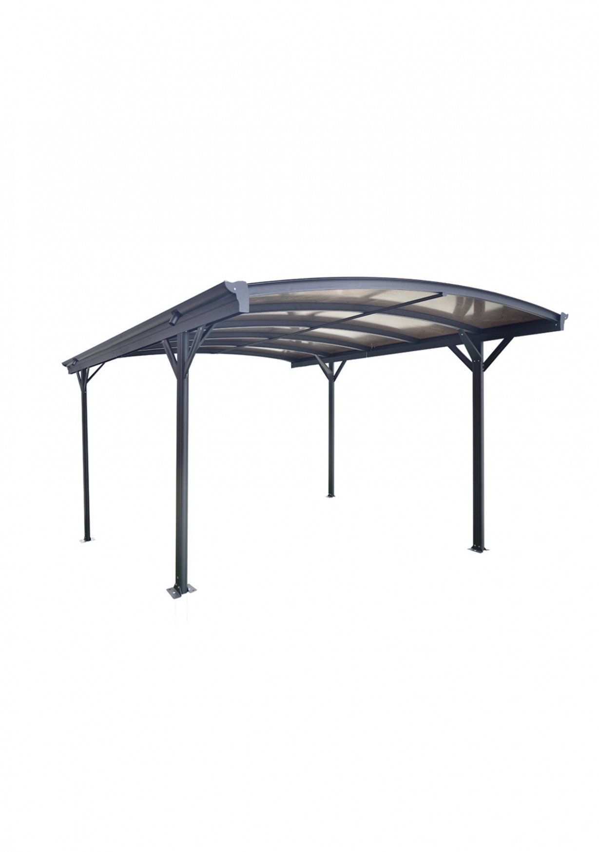 Curved Roof Freestanding Canopy/Carport 7L X 7W X 7H Curved Roof Carports