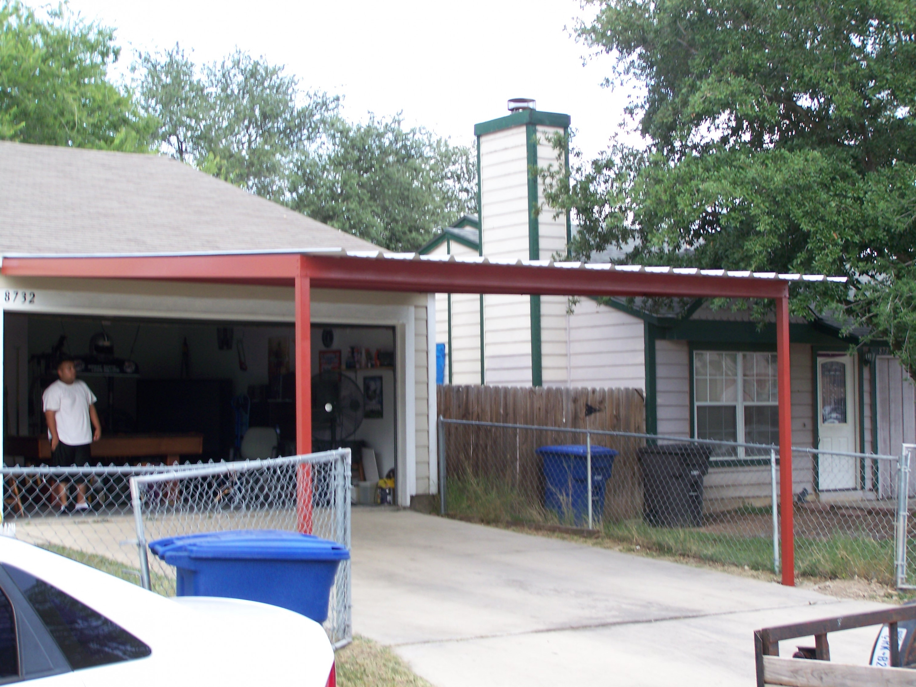 Custom Attached Carport Southeast San Antonio Carport ..