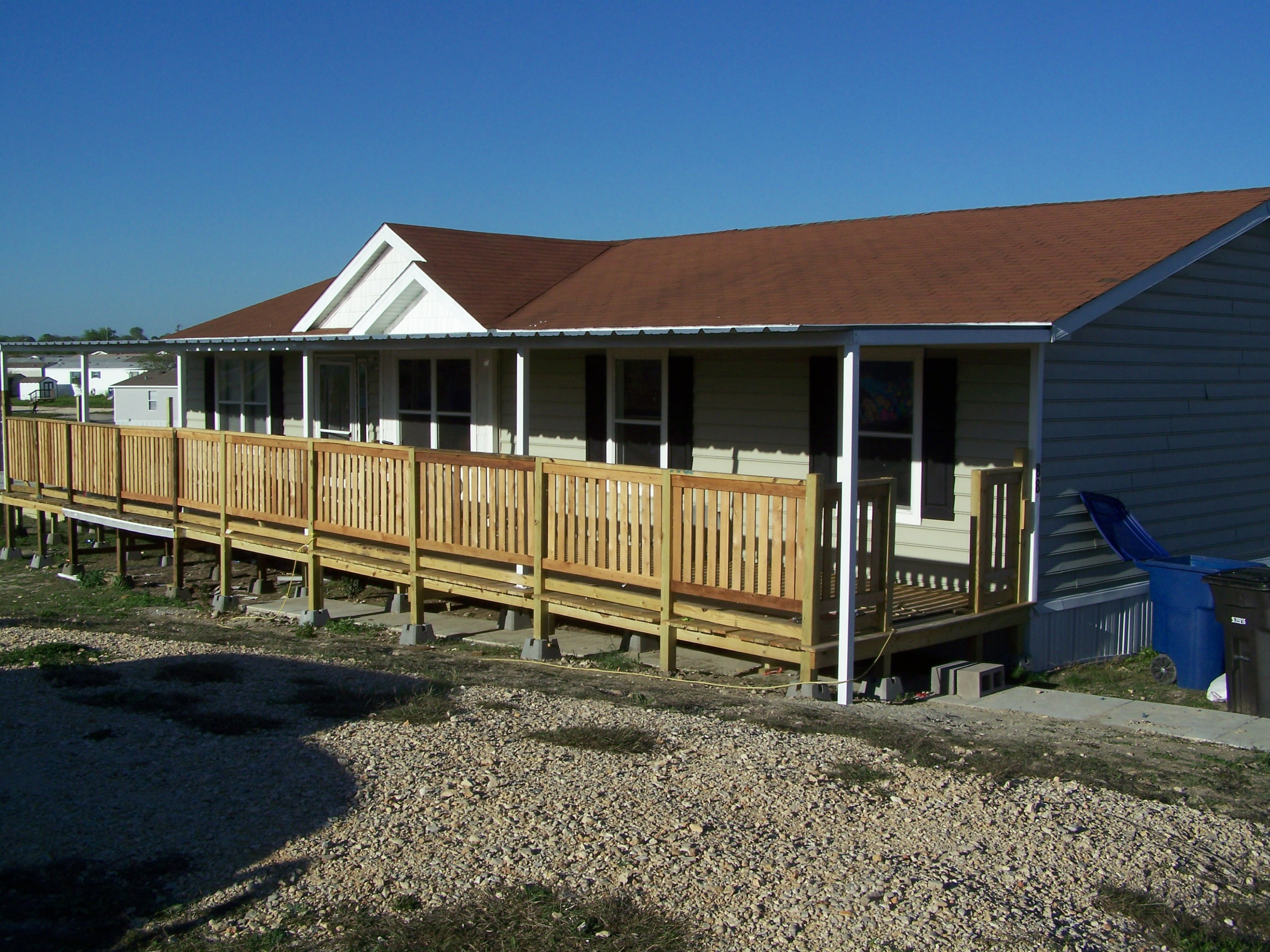 Custom Deck Steel Awning Attached To Manufactured Home North ..
