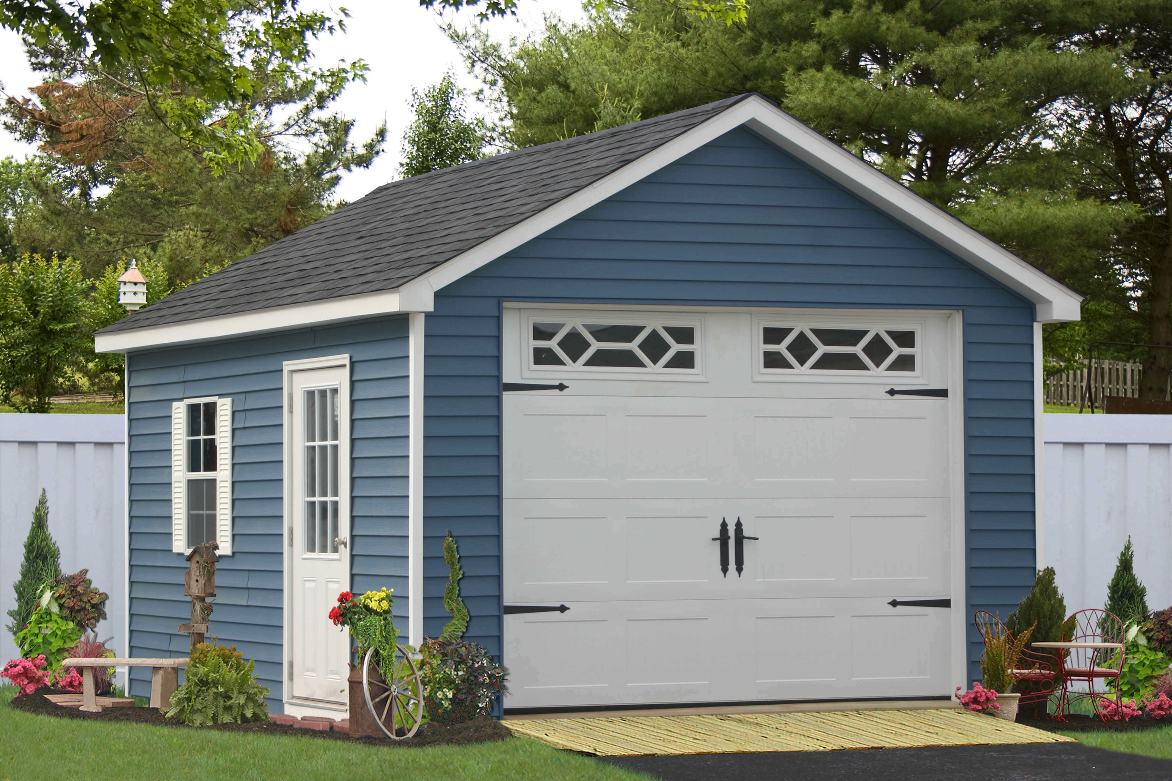 Custom Detached Garage For One Car And Motorcycle For Sale One Car Garage With Carports