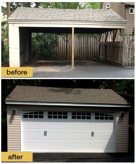 Custom Garage Doors | Vertical High Lift | Interior Garage ..