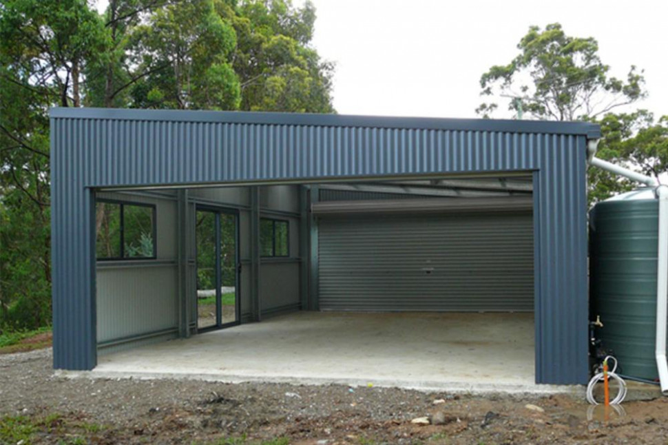 Custom Garage Images & Gallery | THE Shed Company Can You Put A Garage Door On A Carport