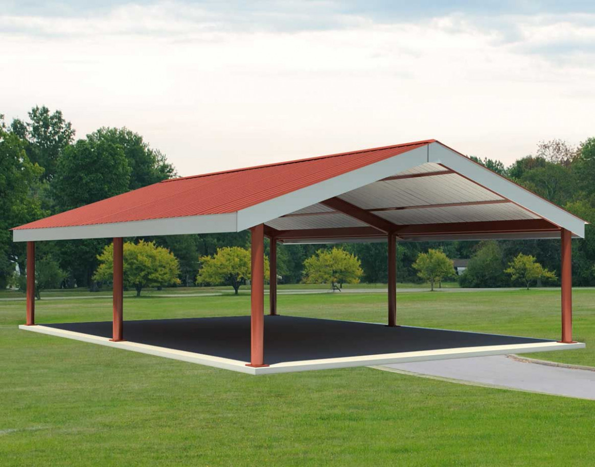 custom metal pavillion | Steel I-Beam Single Roof Savannah ...