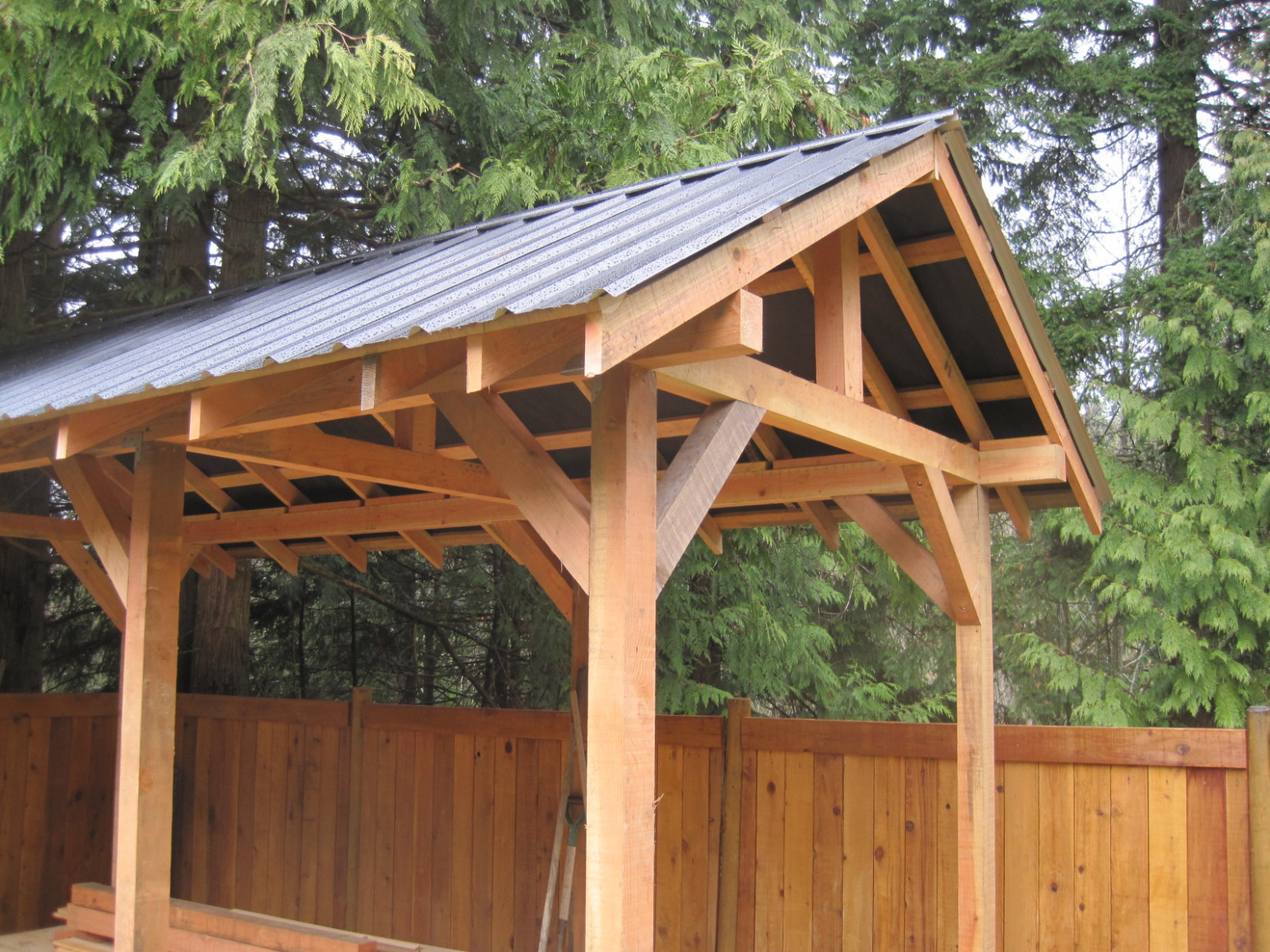 Custom Small Post And Beam Structures   Peerless Forest Products Carport Roof Posts