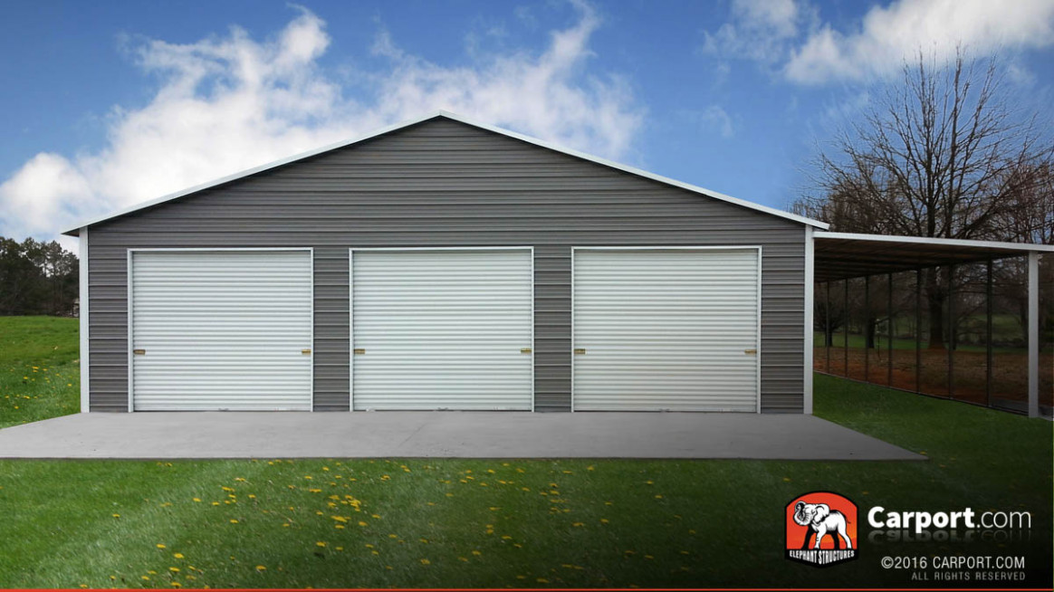 Custom Three Car Garage 9' Wide X 9' Long X 9' High Carport Garage Requirements