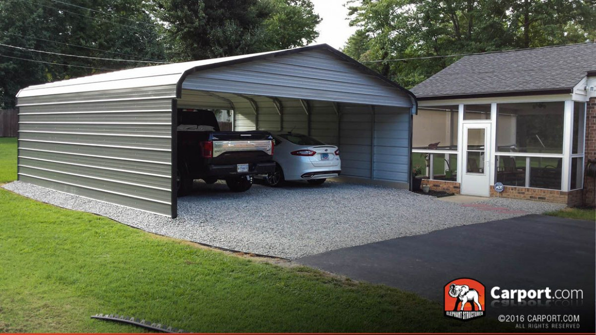 Custom Triple Wide Metal Carport 10′ Wide X 10′ Length X 10 ..