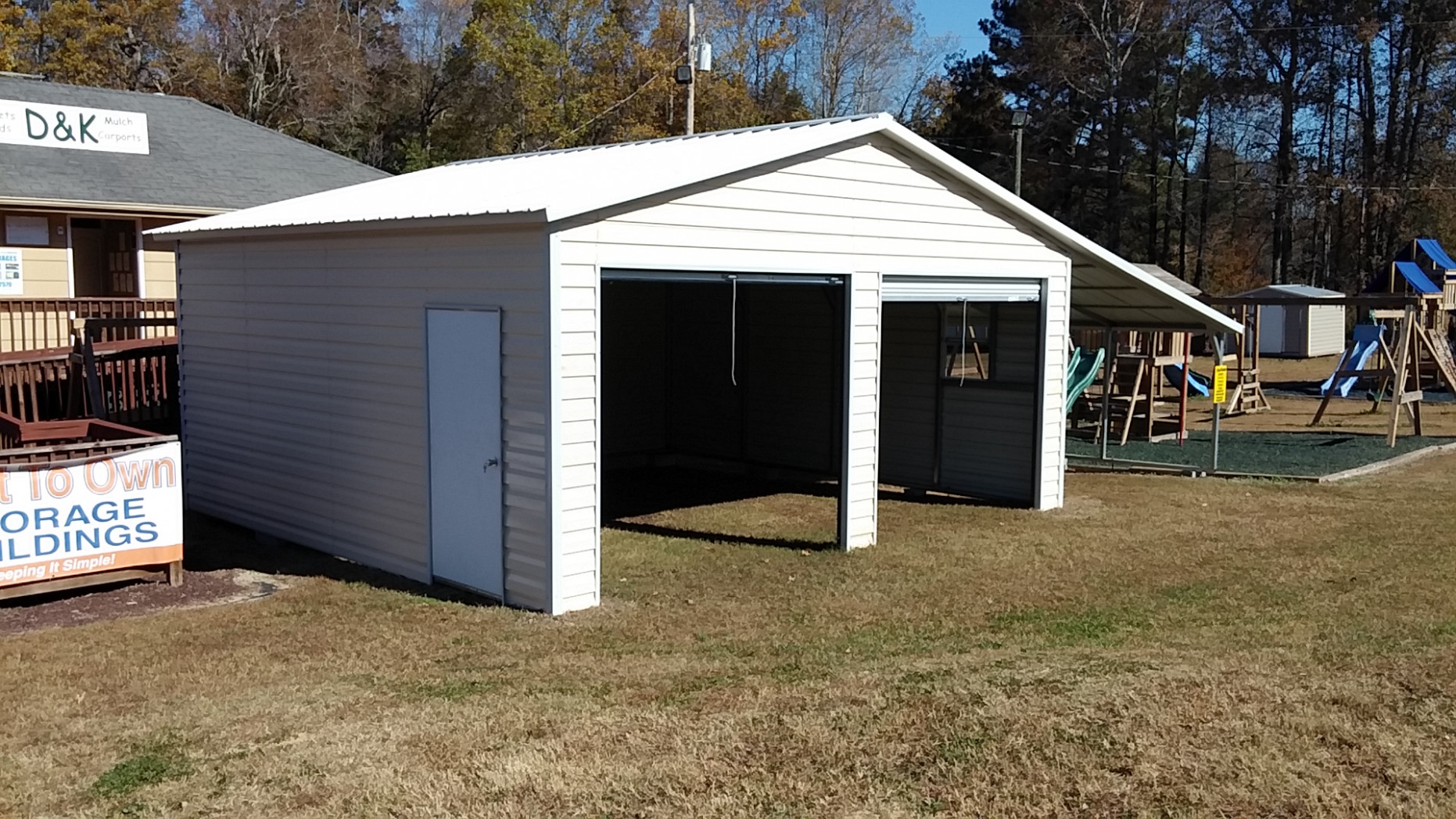 D And K Groundworks, Llc Portable Storage Shed, Steel ..