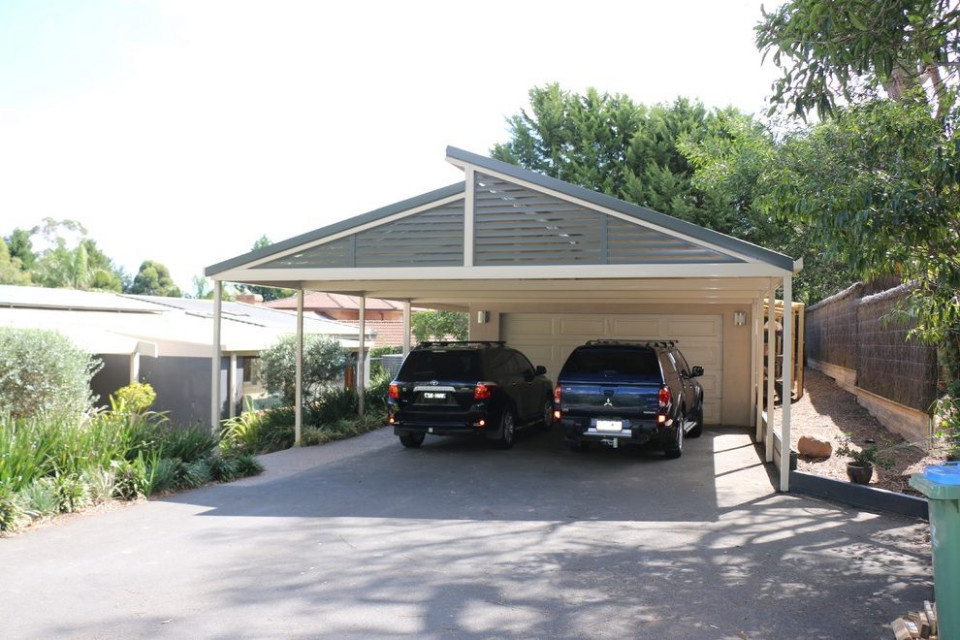 detached carport garage modern with verandah melbourne ...