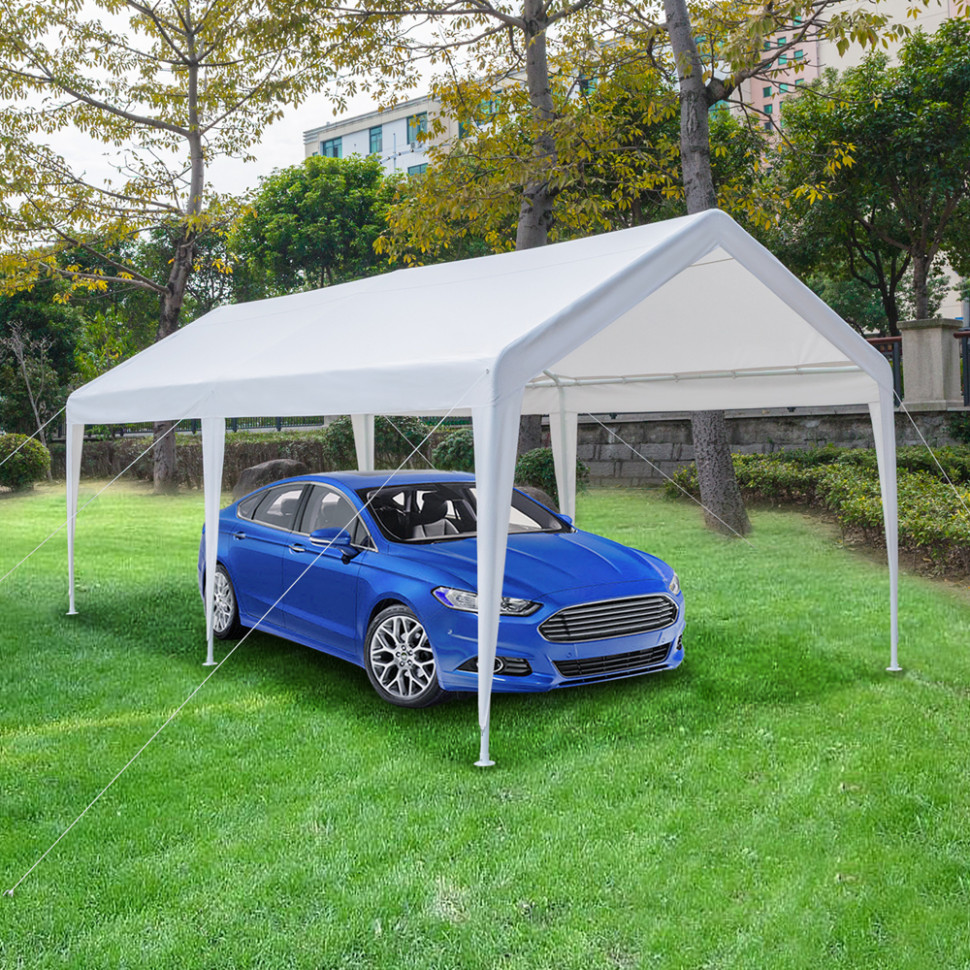 Details About 9x9 Carport Car Canopy Versatile Shelter Car Shed With Foot Cloth White Carport Canopy Canada