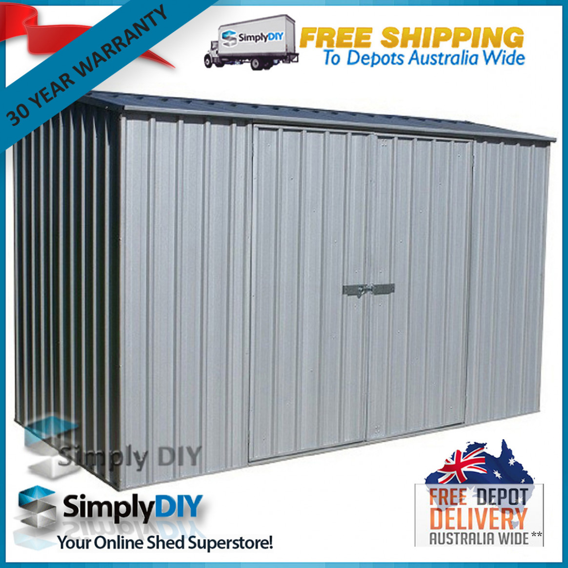 Details About ABSCO PREMIER GARDEN SHED 100m X 10