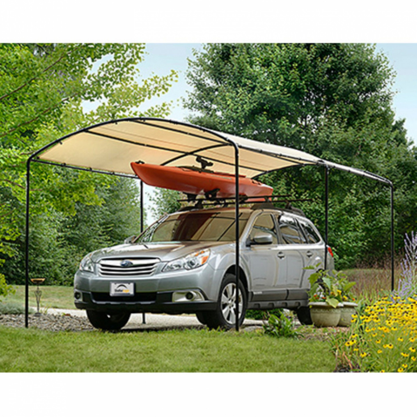 Details About Metal Carports Carport Canopy Kits Garage Steel Frame Car 10 X 10 Boat Tent Cover Photo Carport Garage