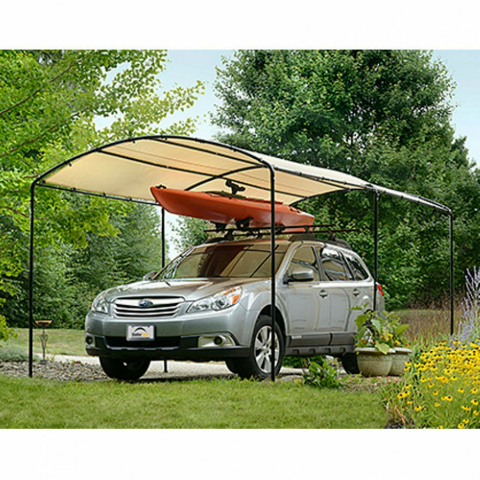 Details About Metal Carports Carport Canopy Kits Garage Steel Frame Car 9 X 9 Boat Tent Cover Carports And Canopies Ltd