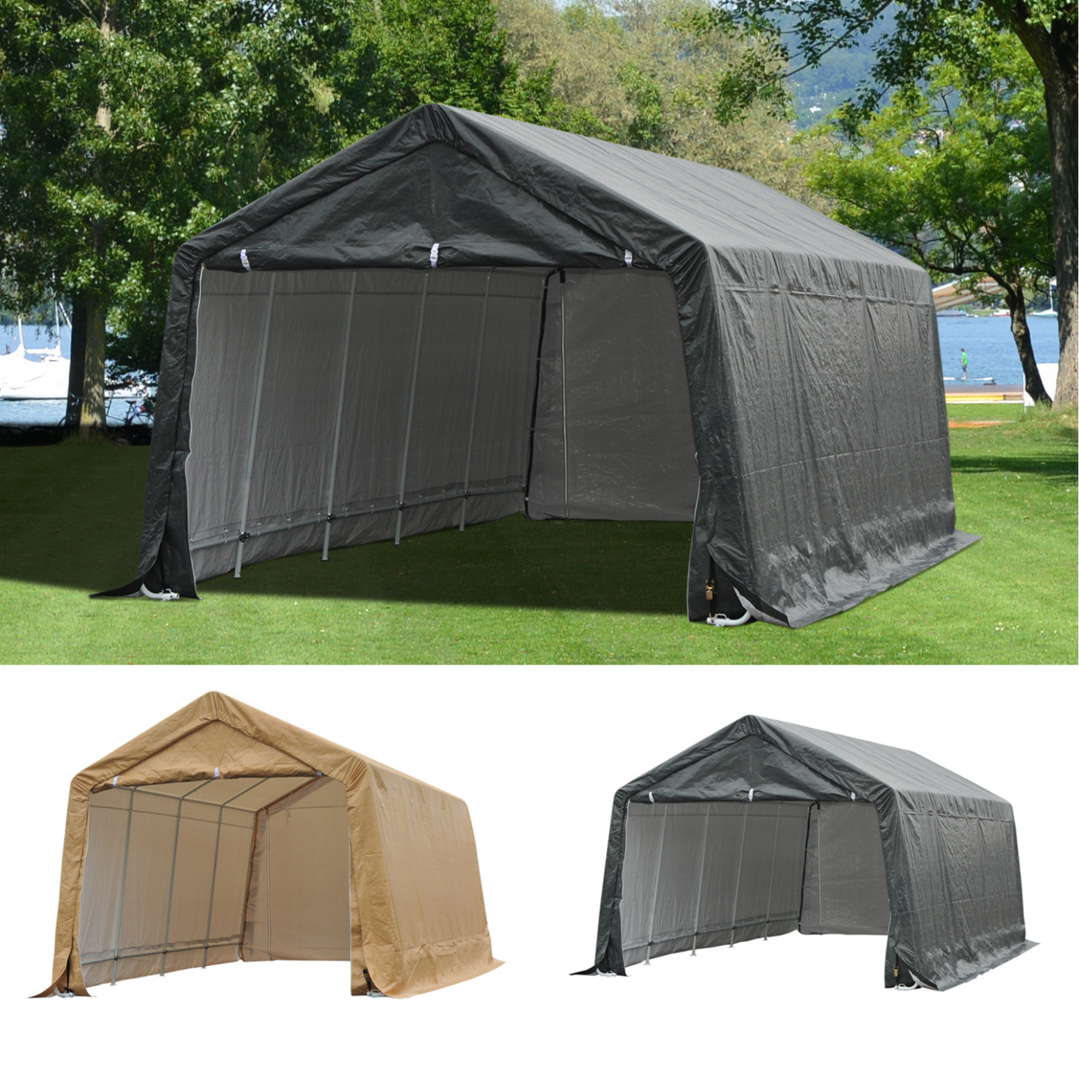 Details About Patio Large Garage Outdoor Carport Shelter Canopy Tent Sidewall Carports Parking Coupon