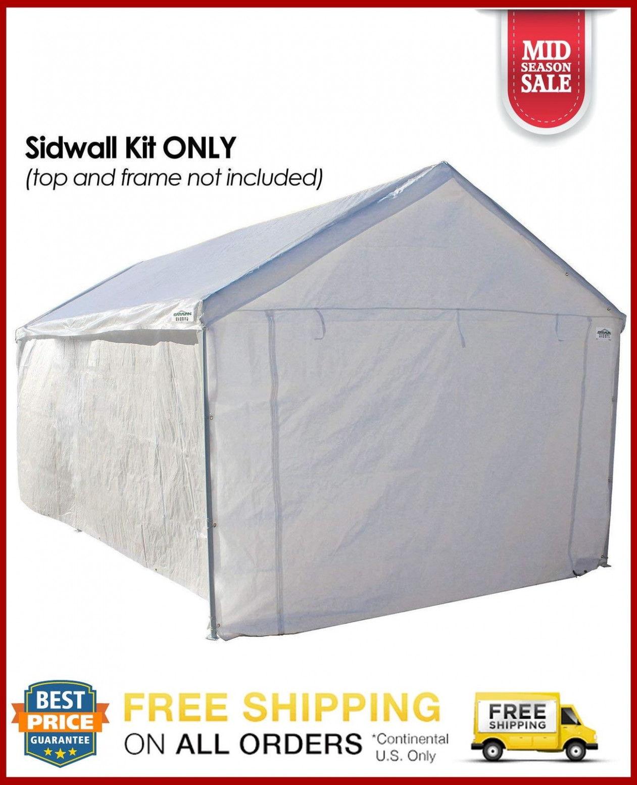Details About White Heavy Duty Canopy Tent Carport 9 X 9 Steel Portable Car Shelter Storage Carport Canopy Height