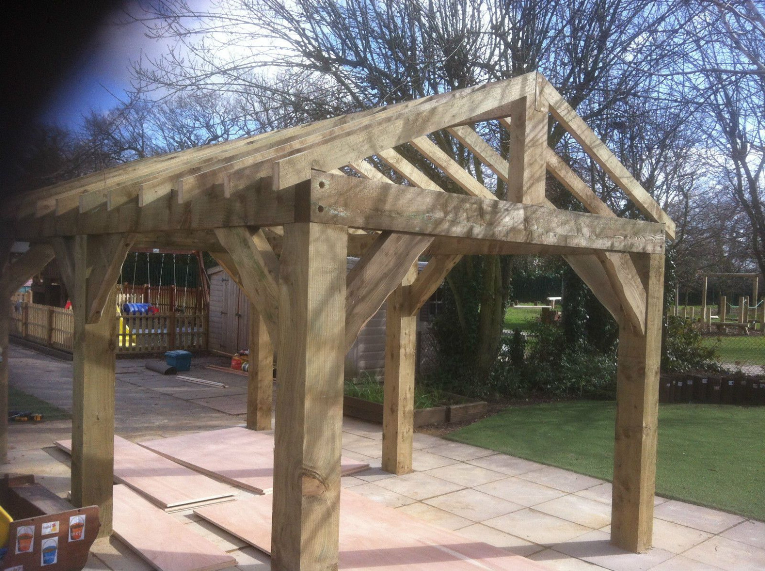Details About Wooden Garden Shelter, Structure, Gazebo, Hot ..