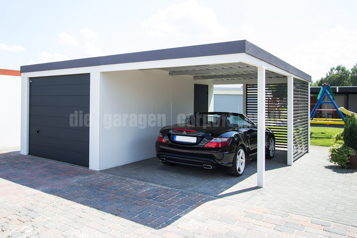 Die|garagen|carport|profis Kombinationen Garage Carport Carport Garage Is
