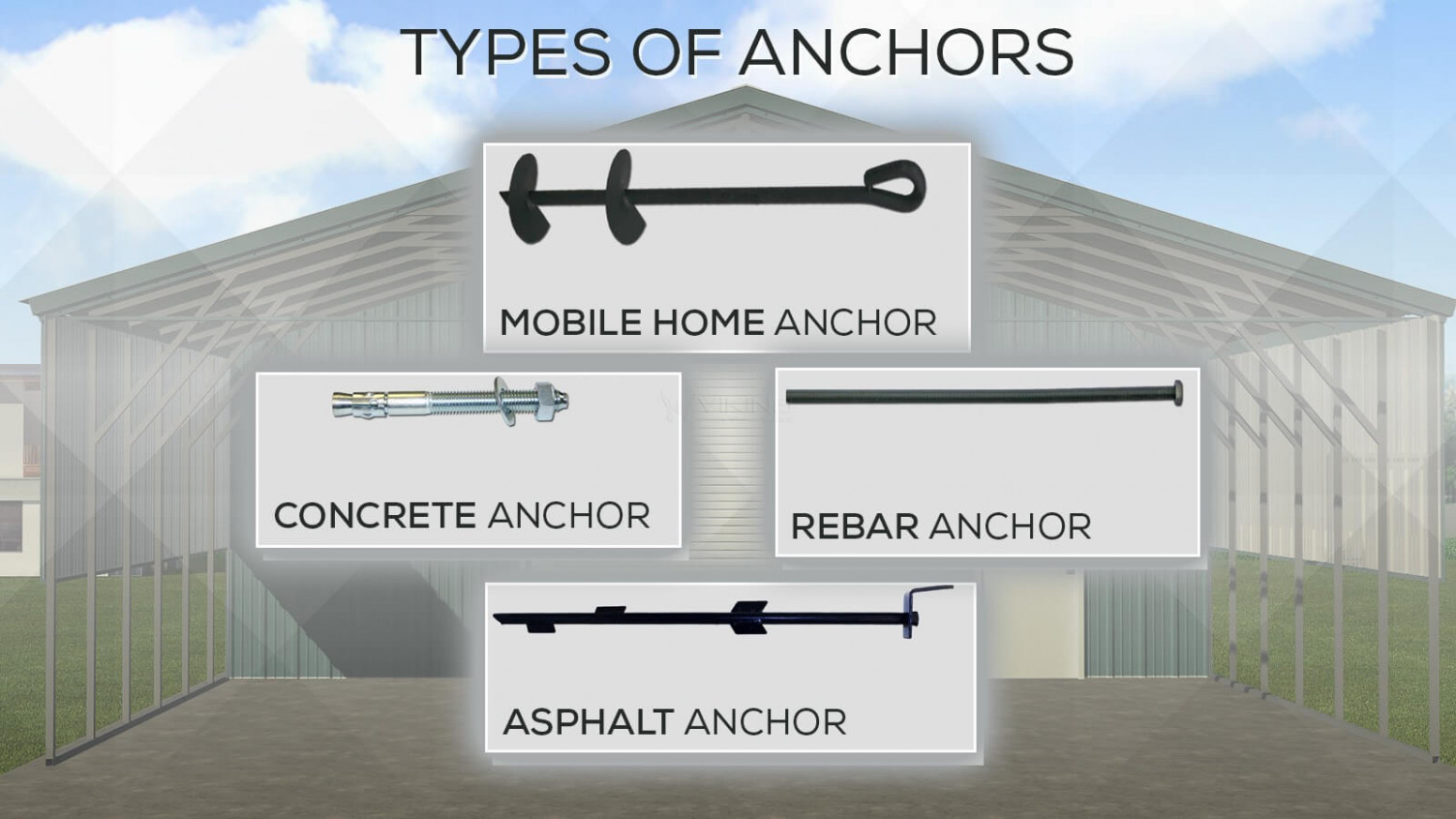 Different Types Of Anchors For Metal Carports And Metal ..