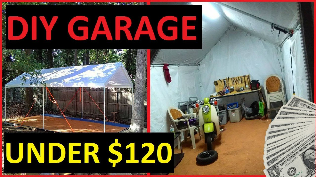 DIY Carport Garage Shelter / Storage Recycled Pallet Floor