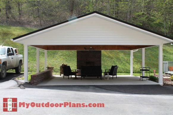 DIY Double Carport | Free Outdoor Plans DIY Shed, Wooden ..