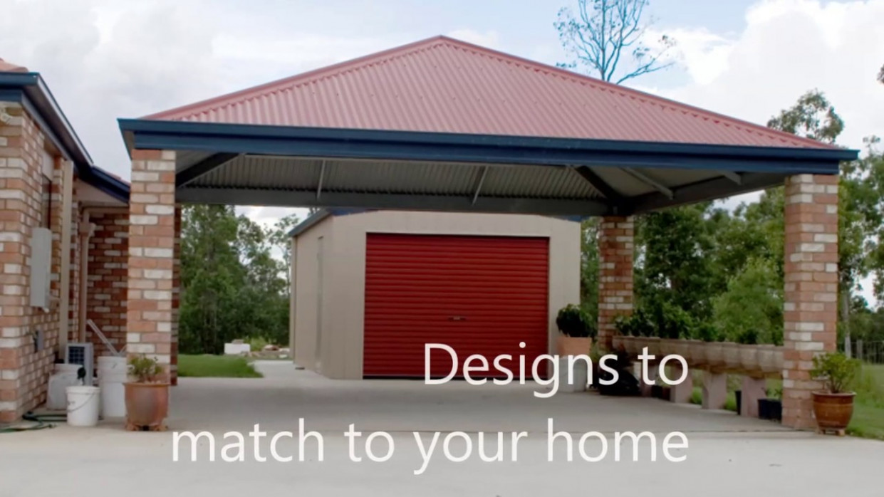 Dondex Pty Ltd Online Sheds Slanted Roof Carports