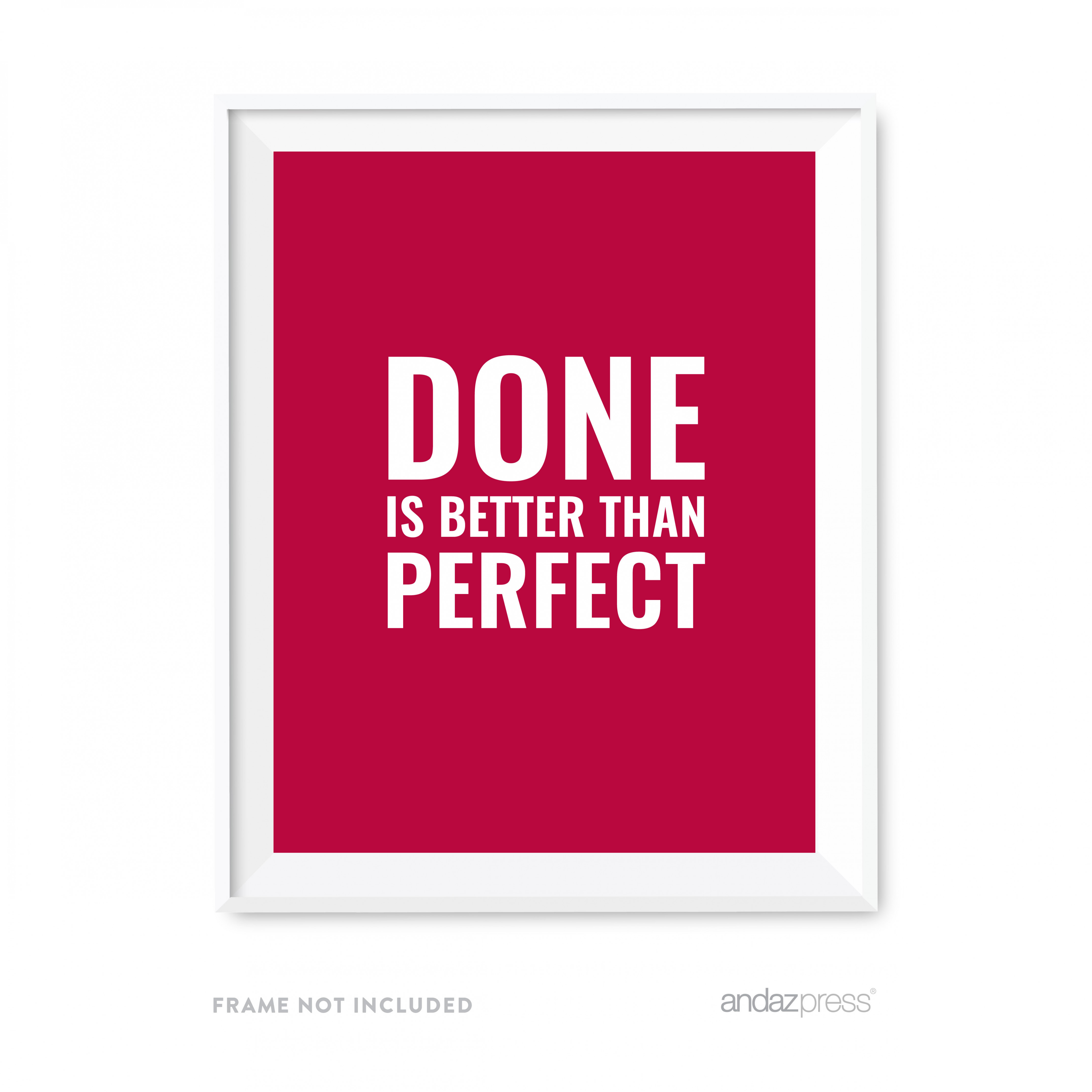 Done Is Better Than Perfect Motivational Wall Art, Inspirational Quotes For Home Office Carports Minimalist Quotes