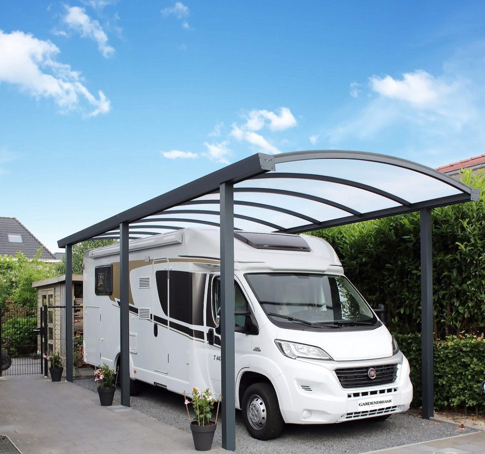 Double Arched Aluminium Carport Carports+curved Roof