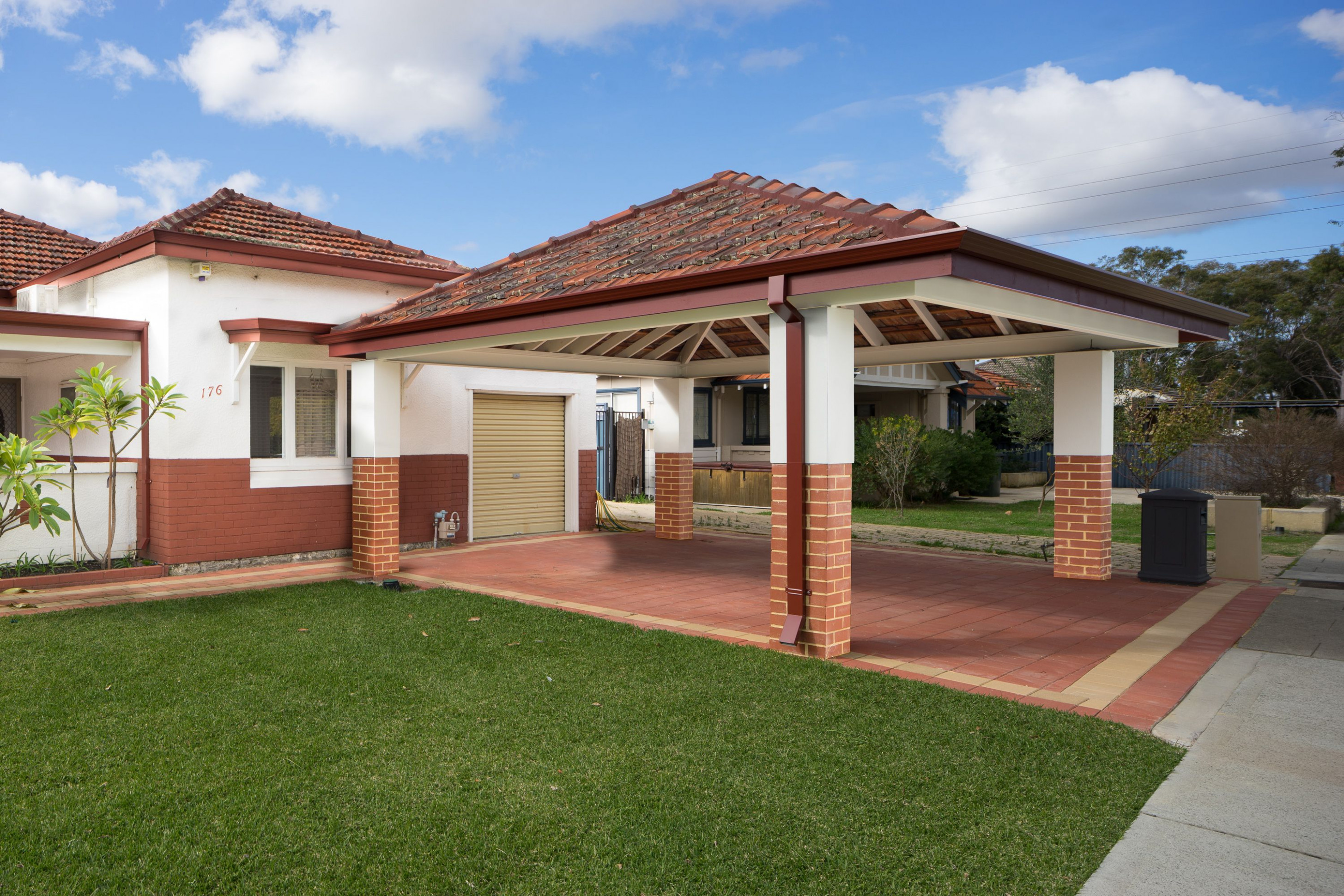 Double Brick And Tile Carport | Garden Structures In 9 ..