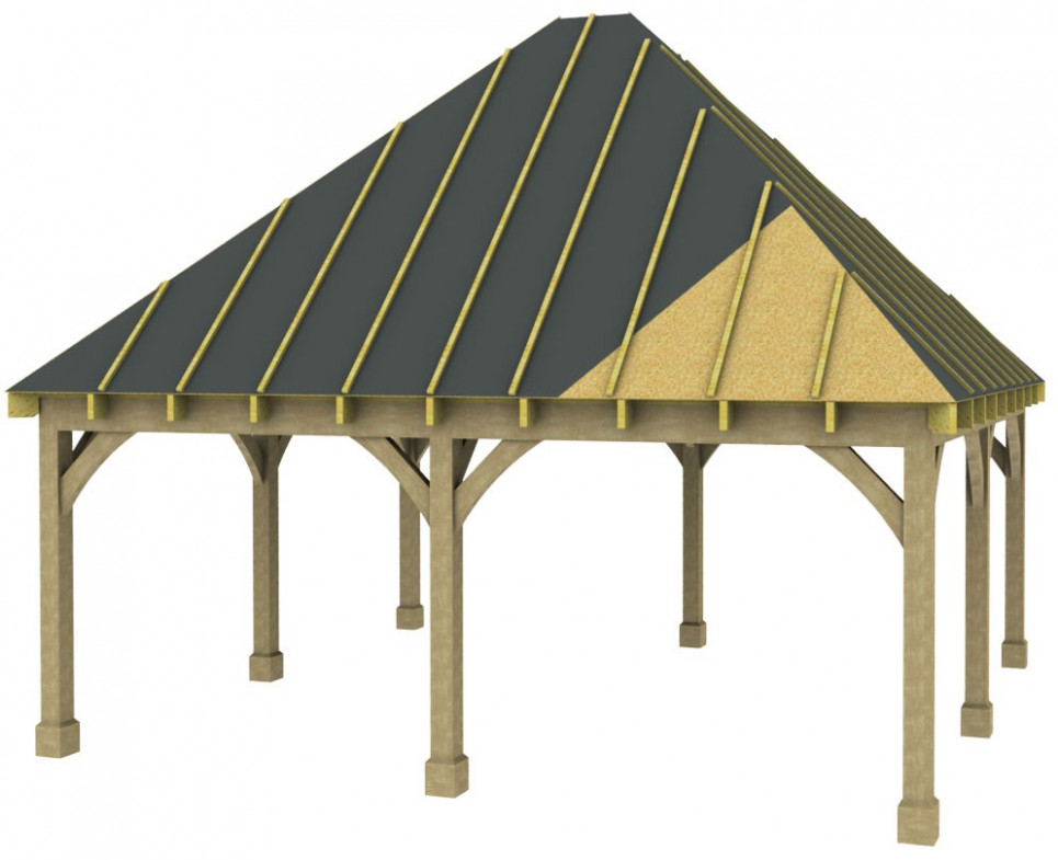 Double Carport Kit Hi Pitch Hip Roof Traditional Style ..
