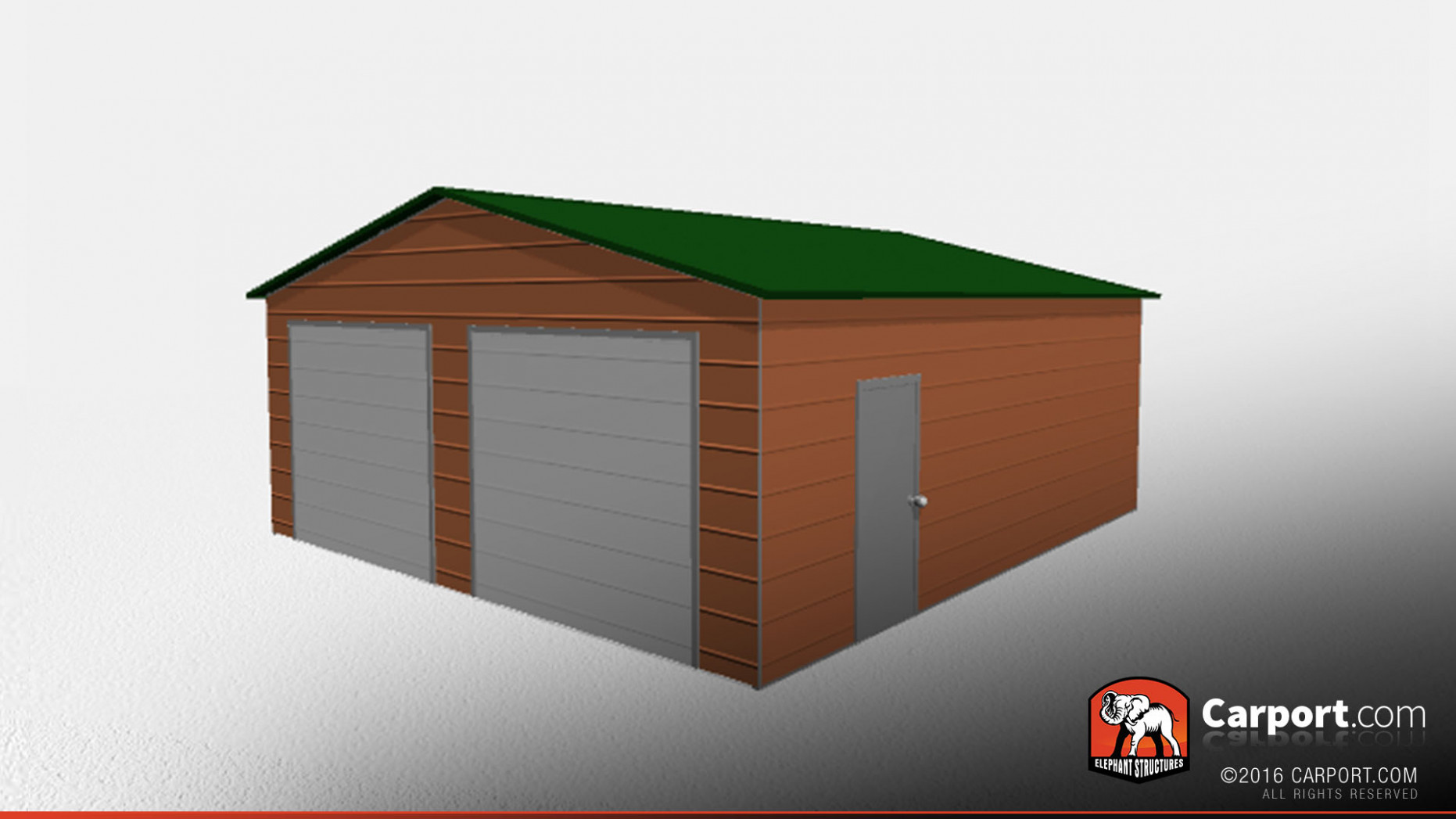Double Wide Metal Garage 24' X 26' X 9' Clearance ..