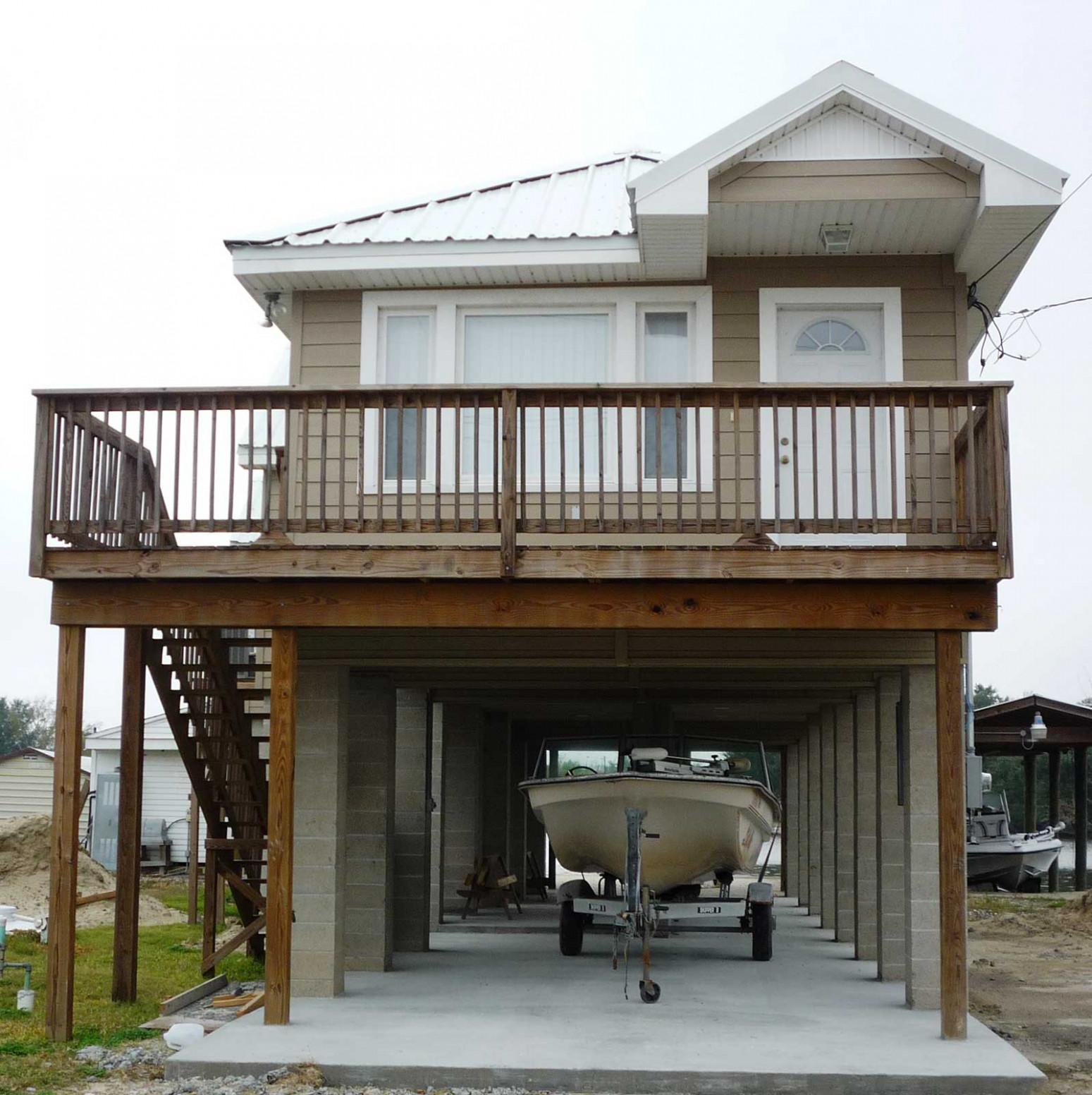 Drive Under Garage Roubion Shoring Construction House Over ..