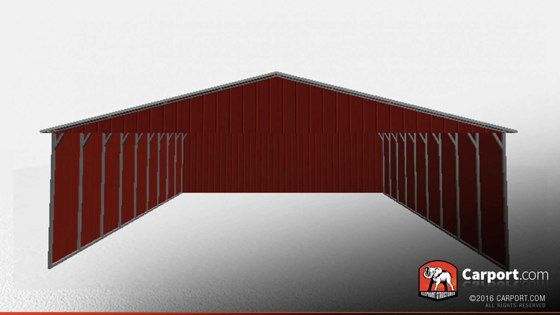 Durable RV Carport With Vertical Roof And Sides   Shop ..