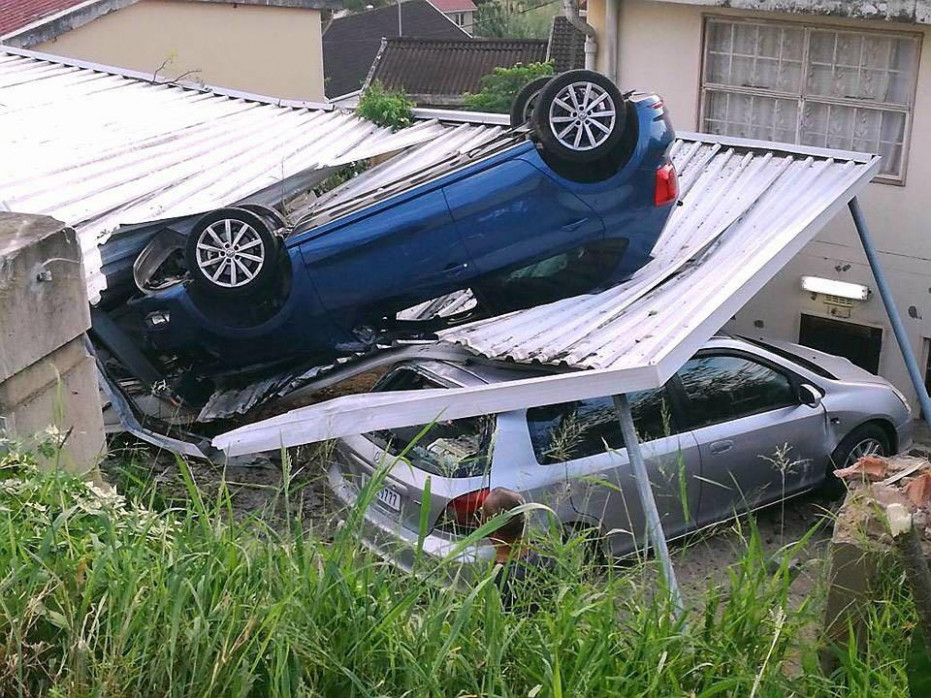 Durban Woman Loses Control Of Car And Crash Lands On ..