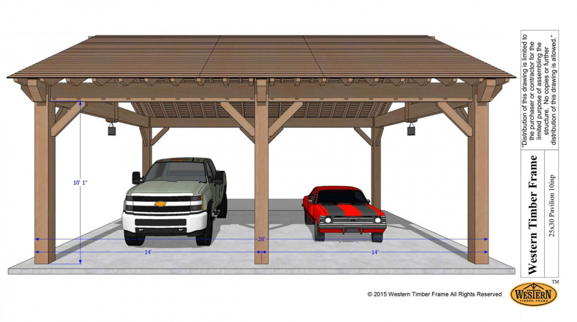 Easily Build Your Own Carport RV Cover | Western Timber Frame Wooden Double Carport Plans
