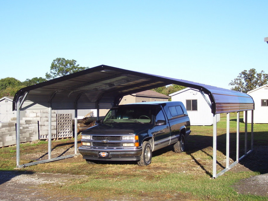 East Coast Carport Packages Metal Carport In Front Of Garage