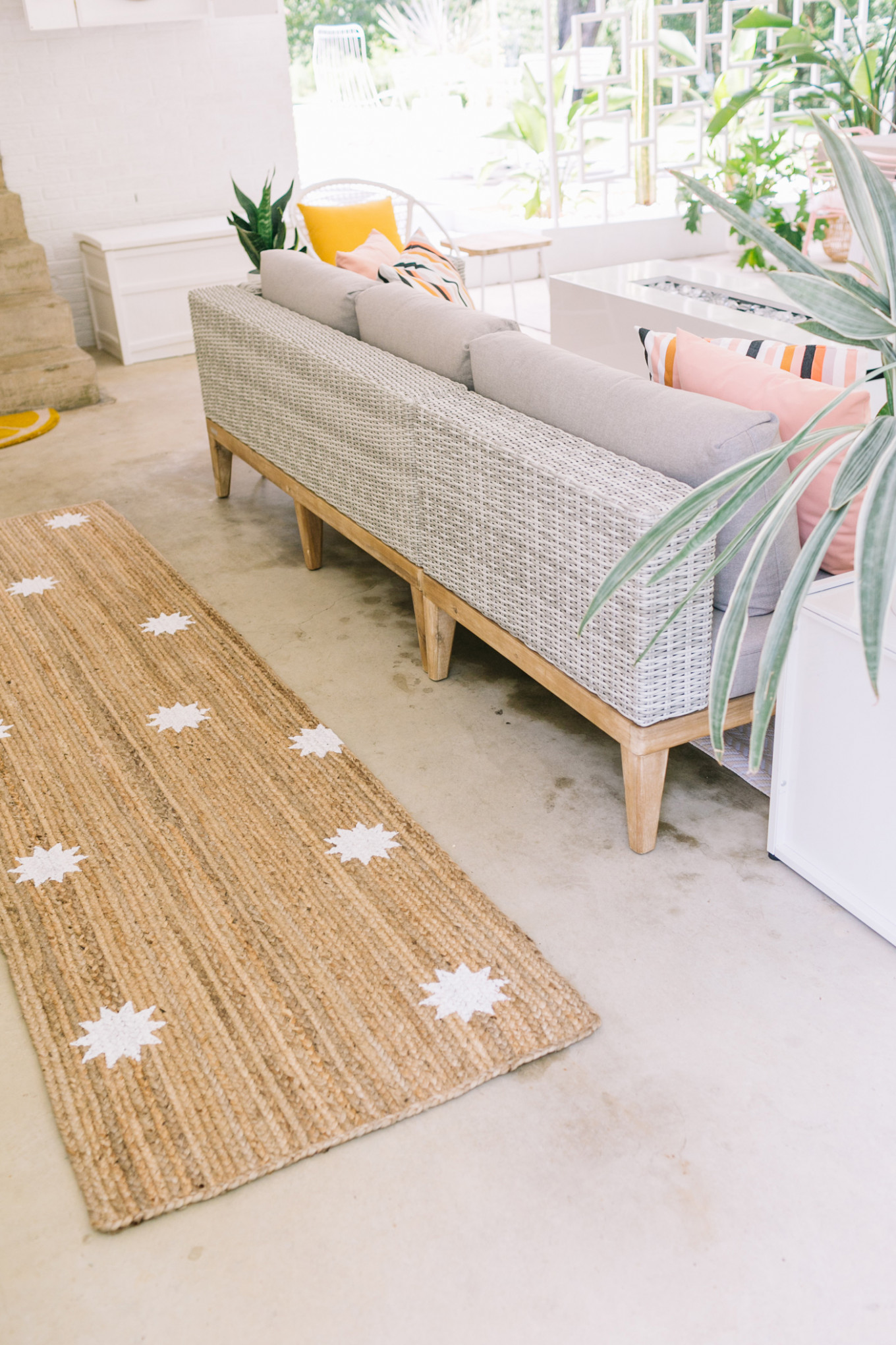 Easy Stenciled Outdoor Rug A Beautiful Mess Carports Decorating Uk