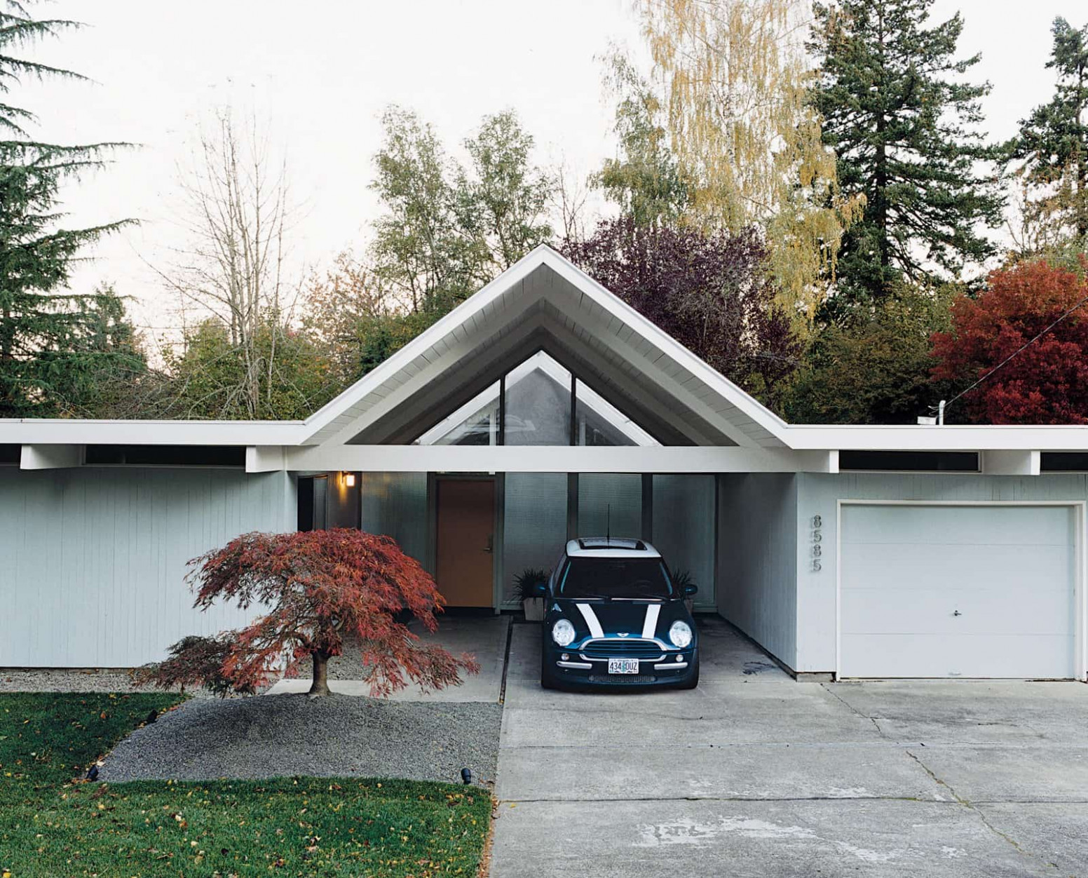 Eichler Houses | Mid Century Home Contemporary House With Carport