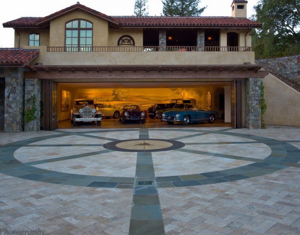 Fantastic Modern Garage Design In Deluxe House Neoteric ..
