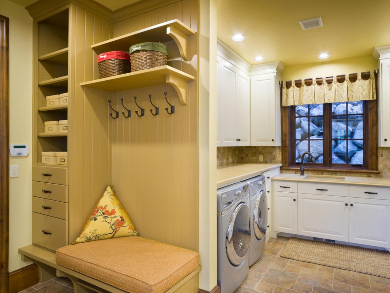 Finding A Place For Your Mudroom   HGTV Carport Laundry Room Ideas