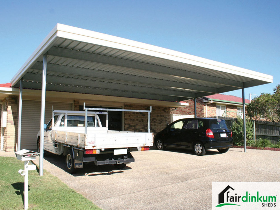 Flat Roof Carport Customise Size & Colours | Fair Dinkum ..