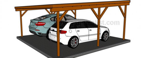 Flat Roof Double Carport Plans | HowToSpecialist How To ..