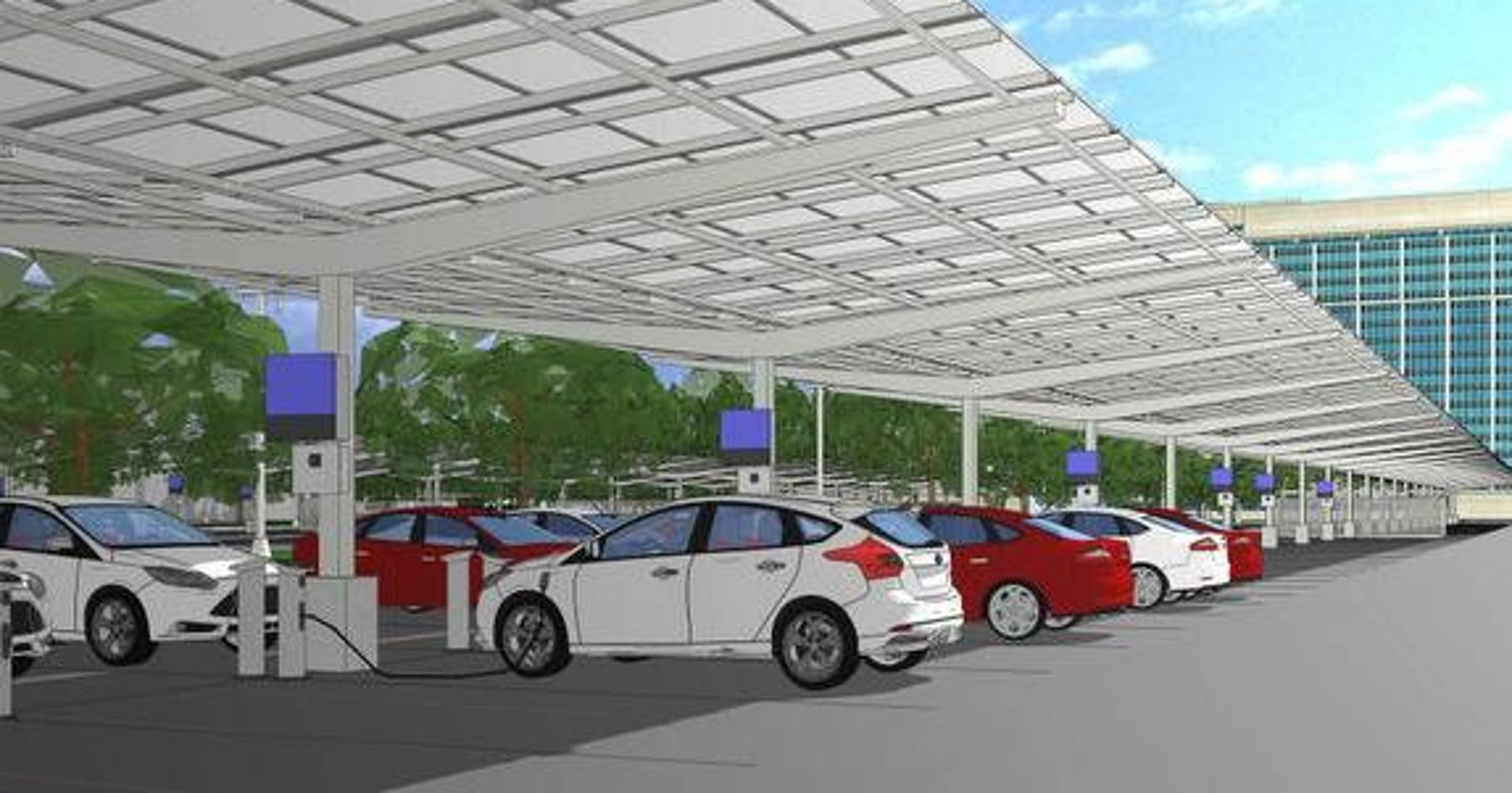 Ford, DTE To Build Giant Solar Carport In Dearborn Carports Parking Ohio