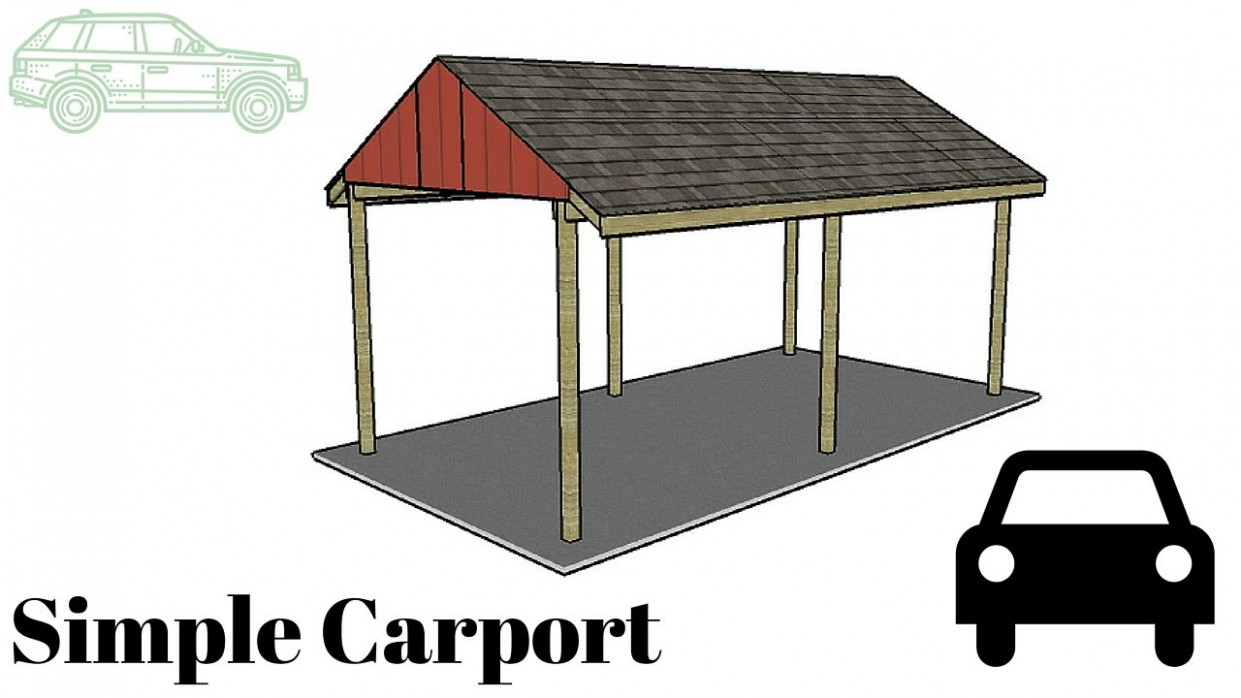 Free Simple Carport Plans How To Build A Wooden Carport
