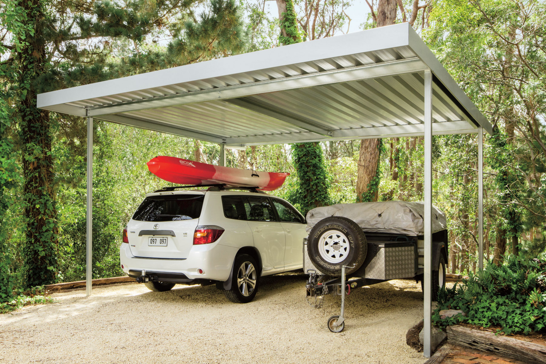 Frontier Patio Carport Zinc Roofing