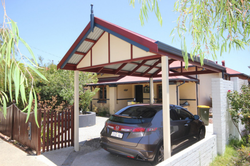 Gable Roof Carport in Perth - Carports Gallery | Softwoods