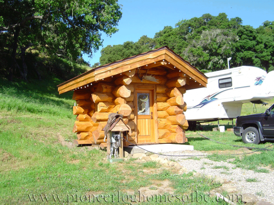 Gallery Garages And Barns Pioneer Log Homes Midwest Log Garage With Carport
