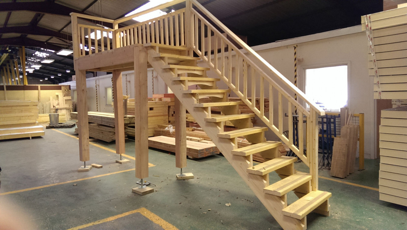Garage And Carport Staircases SolidLox Wooden Garages And Carports