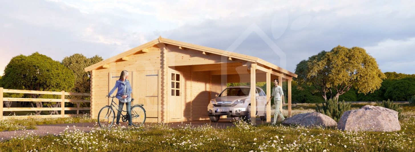 Garage En Bois 10x10 10mm+Carport 10x10, 10m² | Pool House Carports Garage Pool House