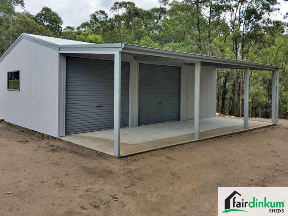 Garage With Lean To And Garaport | Fair Dinkum Sheds Lean To Carport Off Garage