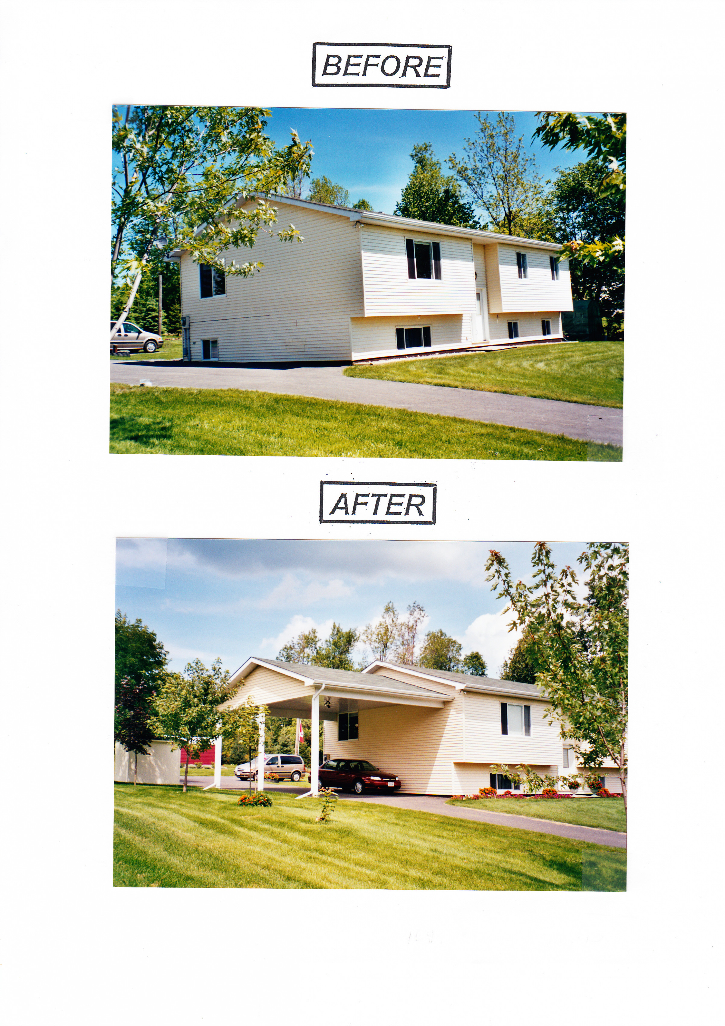 Garages And Carports By Menard Bros | Menard Group Carport To Garage Before And After