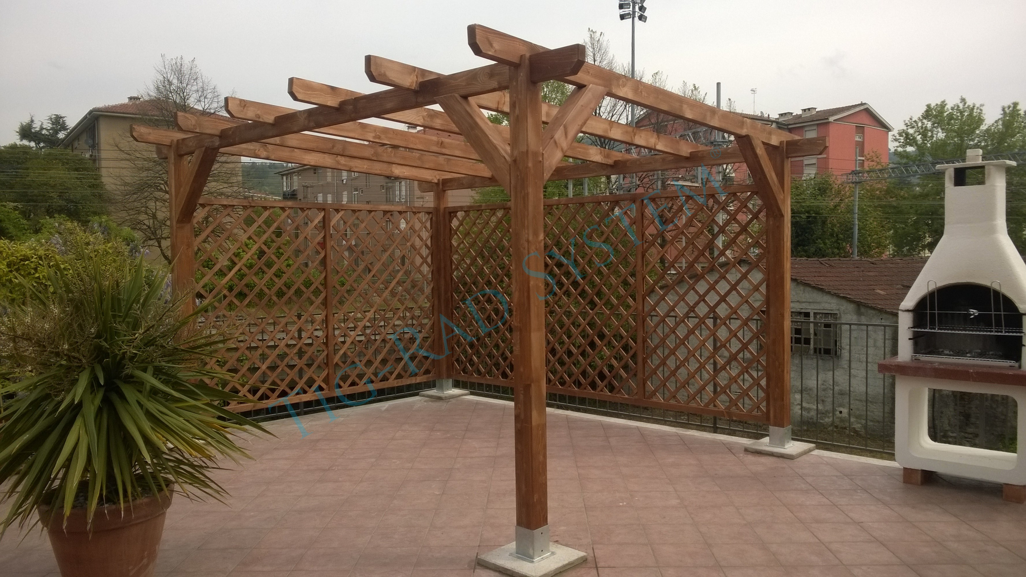 Garages And Carports TIG RAD System Wooden Double Carport